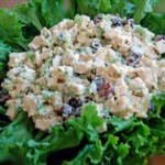 salada fria de frango e cogumelos
