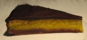 tarte de chocolate com laranja e limão