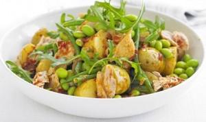 Salada de atum batata e feijão